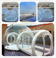 Fashion new style top quality two rooms Camping inflatable bubble tent