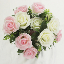 Love decorate bridal bouquet
