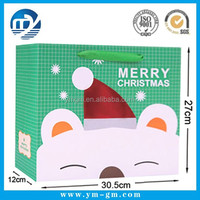 Cheap promotional gift snow man shopping paper bag