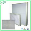 filton 99.995% 0.3um مصغرة طوى hepa فلتر hepa فلتر تصفية لوحة فان h11 h12 h13 14
