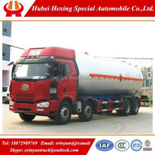 Low price FAW 8*4 34.5cbm new lpg tanker pump truck for sale