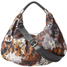 Chinese leather bag manufacturer wholesale 100% genuine leather print genuine leather bag ladies