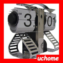 UCHOME Hot Sale Robot Flip Desk Clock Factory direct Sale Desktop Clock