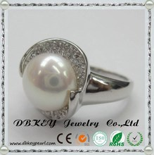 China Manufacture zircon paving 925 Silver Jewelry ring 925 Sterling Silver
