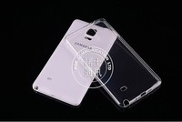Ultra thin clear tpu mobile phone cover for samsung note 4 n9100 soft back case