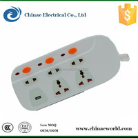 PC body case PVC copper wire extension cable socket 2 port usb hub with power surge protector