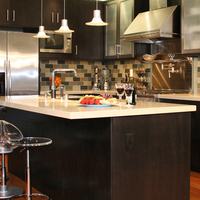 red solid colour countertops/ fire-proof surfaces countertops/solid surface countertoops
