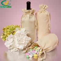 cotton canvas wine bag, cotton drawstring bag for bottle packaging