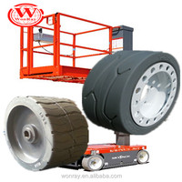 High quality puncture proof genie scissor lift tire 15*5 with good price