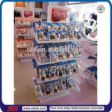 TSD-M654 Free standing double side metal lingerie stand,underwear store display rack, lingerie store display furniture