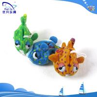 Lovely stuffed animal toy golbefish plush growing water toys animal animals seat belts pillow baby toys