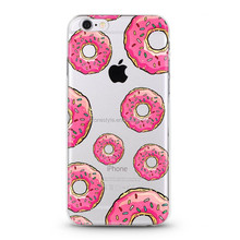 BUStyle for iphone 6 case cute doughnut transparent clear Skin Cover case for apple iphone 5s 6 6s