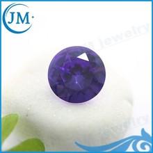 Round Shape Purple Colour Rough Glass