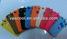 3D Cute Cat Soft Silicone Back Skin Phone Case Cover For Iphone 4 4S