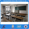 single adjustable school student wood desk and chair