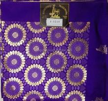 Purple and gold color wholesale african gele headtie swiss small regular headtie
