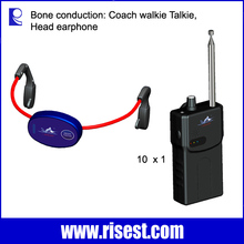 High Quality Swimming Communication System Waterproof Bone Conduction Carriers Blue