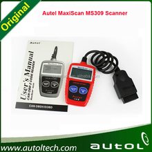 OBDII EOBD Scanner Tools Car Fault Detector Autel - Red 2015 MaxiScan MS309 CAN BUS Code Reader Automobile Diagnostic