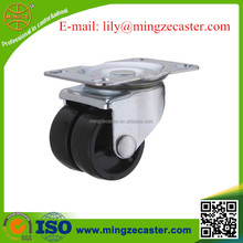 square top plate swivel double wheel casters