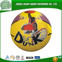 wholesale promotional Customized color rubber made basketball