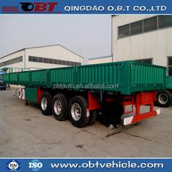 side wall semi trailer/3 axle truck trailer for sale