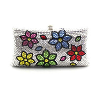 2015 New flower pattern small box elegance Ladies crystal clutch evening party bags
