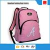 The newest design light pink girls bag backpack and backpack travel bag