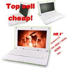 2015 Cheap price android system 10 inch via wm8850 learning laptop for kids and students