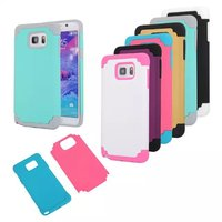 2015 silicone double color Compatible PC phone case for Sumsung note5