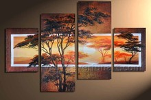 100% handmade african art paintings on canvas wall picture for living room