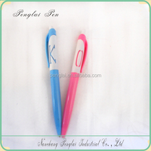 2015 cheap factory promotional plastic Lovers two sides pen