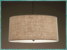 Elegant Fabric Round Shade Modern Fabric Pendant Lamps For Dinning Room