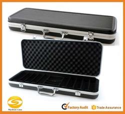 500pc ABS Poker Chip Case - Black Molded Poker Chip storage box