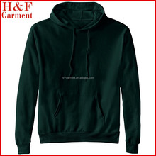 men fleece pullover hoodie with blank design in plain