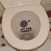 Colorcasa removeable vinyl toilet sticker Hit The Target toilet decal waterproof toilet sticker(ZY321B)