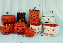 Paper Mache Halloween Shaped Containers