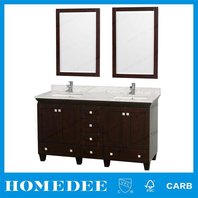 Homedee 60 Inch White Porcelain Double Vessel Sink Bath Vanity With Solid Wood Buy Solid Wood