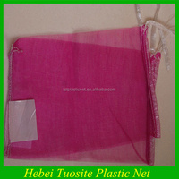 red monofilament plastic fruit packing mesh bag with low price