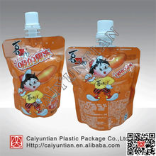 spout pouch for jelly, spout bag for baby food packing, spout pouch for juice