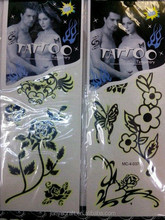 wholesale halloween party used glow in dark temporary tattoos