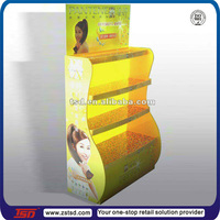 TSD-A368 Best sale retail store floor promotion shelf shampoo display,supermarket display products,4 lays display rack