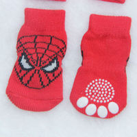 PS030 Fashion Dog Socks Red Spider-Man Pet Cat Socks Cotton Material Dog Pet Cat Shoes
