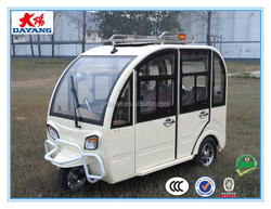 chinese popular new style800w closed electric passenger three wheeler tricycle taxi