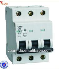 3pole mcb switch c45 circuit breakers
