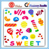 Colorful Decorative candy shape adhesive stickers for kids