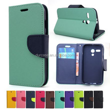 Fashion Book Style Leather Wallet Cell Phone Case for LG E980/988 with Card Holder Design