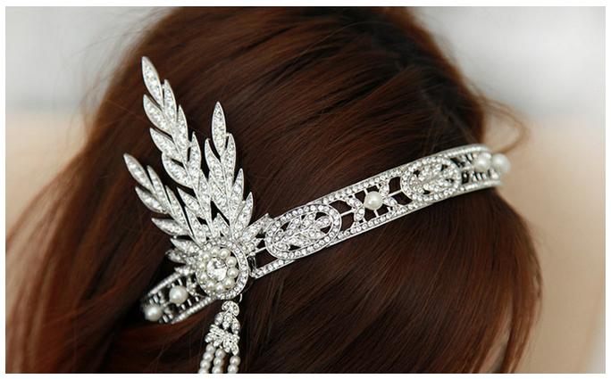 Ювелирное украшение для волос BellyAnna 1920 Cyrstal 1:1 HA-F072-WT