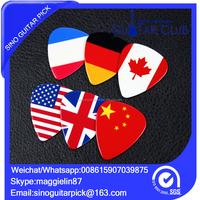 New product custom 6 flag guitar pick/plectrum Custom flag guitar plectrum