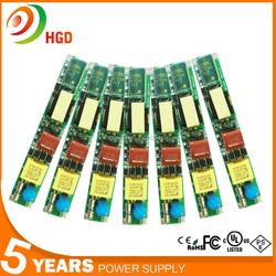 THD<10% non-isolate T8 T5 led driver 30W 500ma