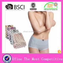 Cotton high waist female underwear,big size xxl boxer briefs, super soft sexy french knicke